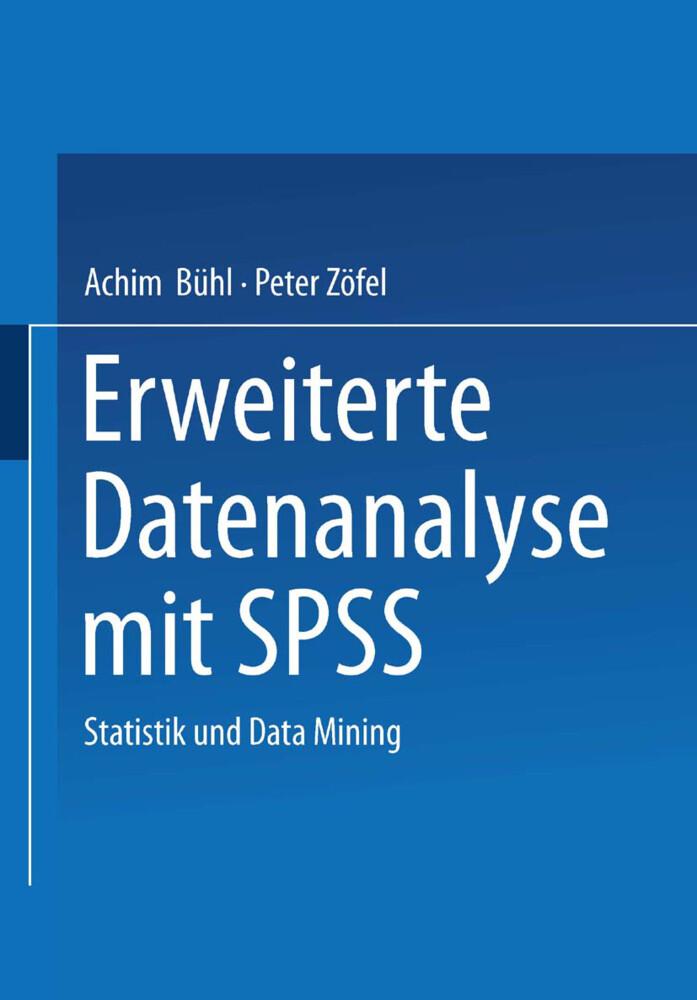 Erweiterte Datenanalyse mit SPSS als Buch