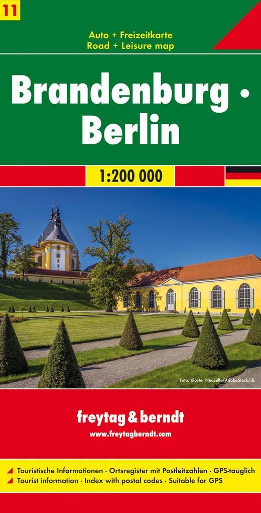Brandenburg - Berlin, Autokarte 1:200.000 als Buch