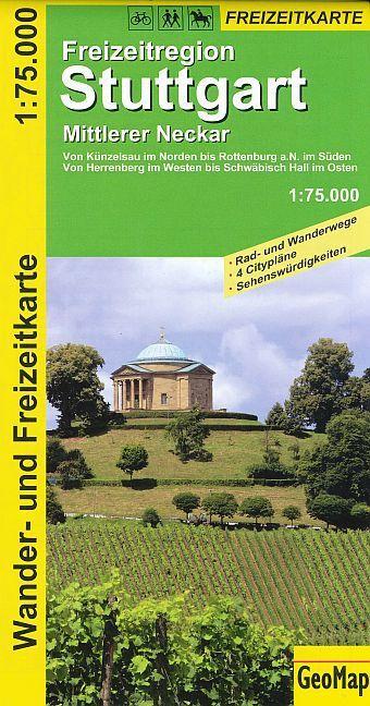 Freizeitkarte Stuttgart 1 : 75 000. Mittlerer Neckar als Buch