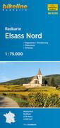 Bikeline Radkarte Elsass Nord 1 : 75.000
