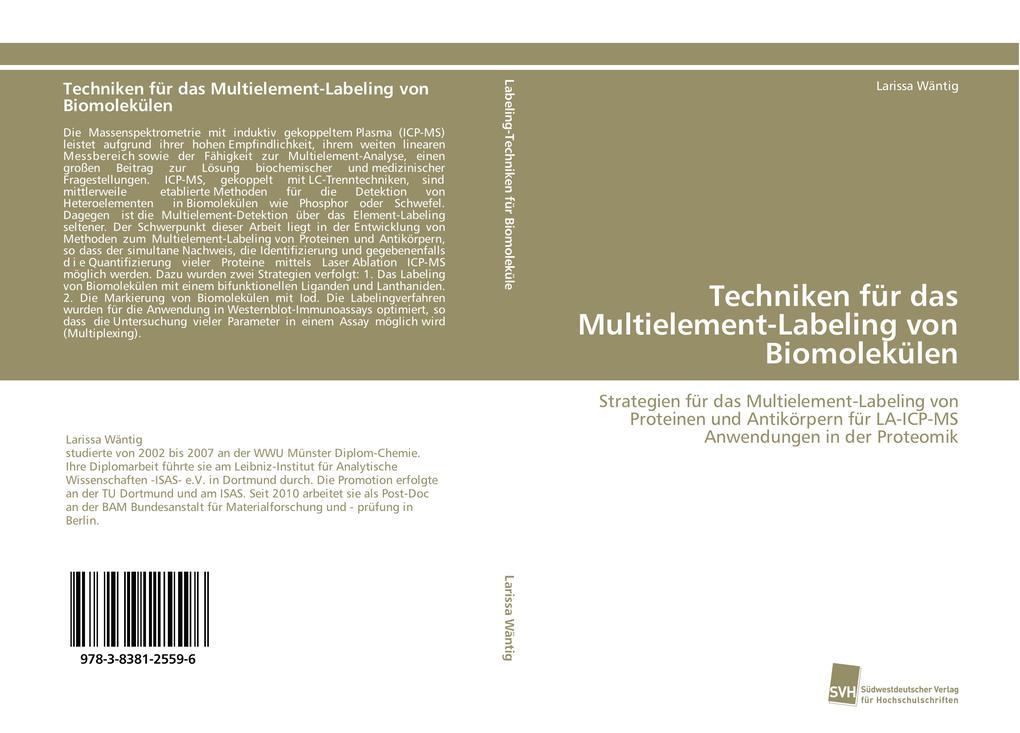 Techniken für das Multielement-Labeling von Biomolekülen als Buch (gebunden)