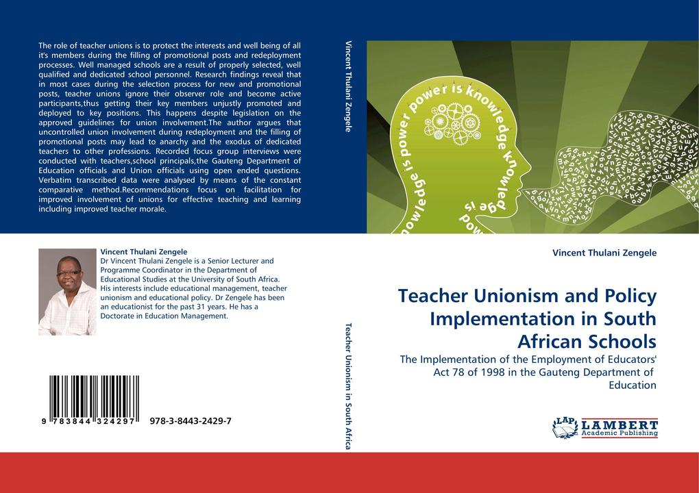 Teacher Unionism and Policy Implementation in South African Schools als Buch (gebunden)