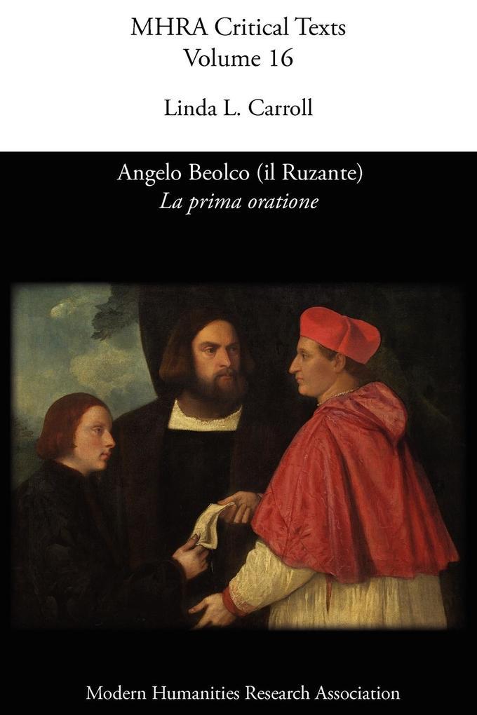 Angelo Beolco (il Ruzante), La prima oratione als Taschenbuch