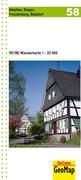 Nordrhein-Westfalen Wanderkarte 58. Netphen, Siegen, Freudenberg, Betzdorf 1 : 25.000