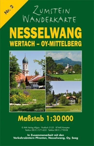 Zumstein Wanderkarte Nesselwang, Wertach, Oy-Mittelberg als Blätter und Karten