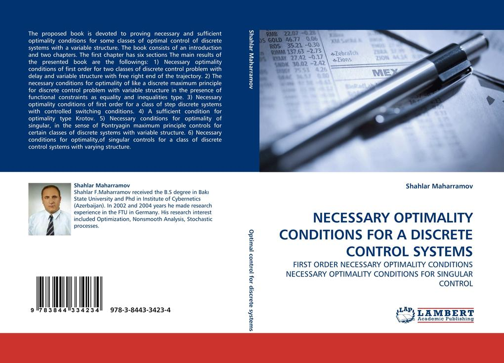 NECESSARY OPTIMALITY CONDITIONS FOR A DISCRETE CONTROL SYSTEMS als Buch (gebunden)