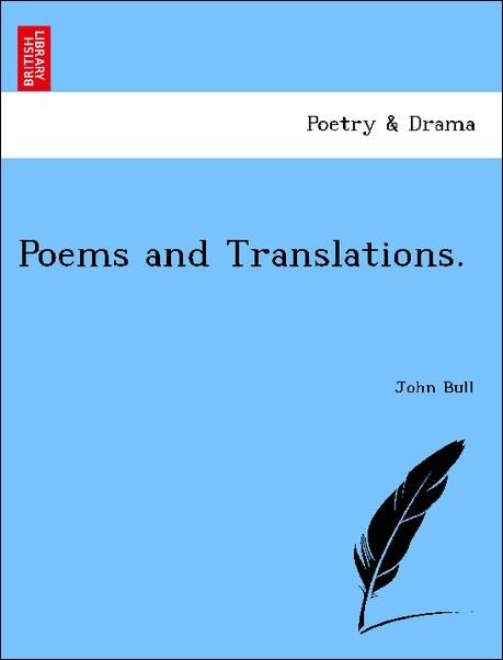 Poems and Translations. als Taschenbuch