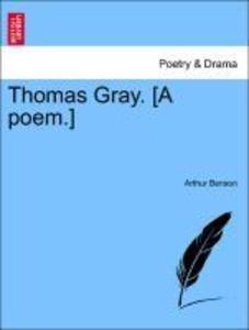 Thomas Gray. [A poem.] als Taschenbuch