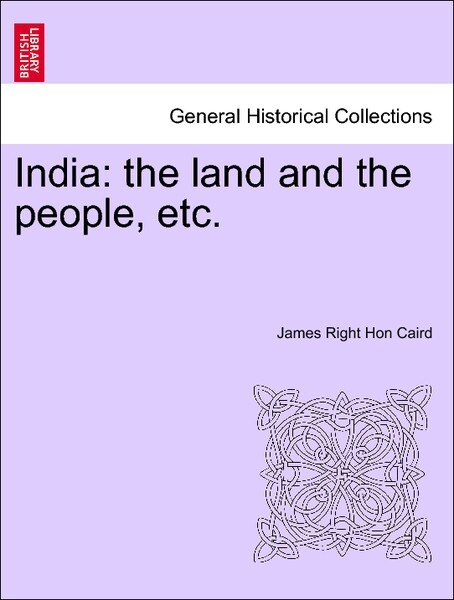 India: the land and the people, etc. als Taschenbuch