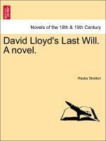 David Lloyd's Last Will. A novel. als Taschenbuch