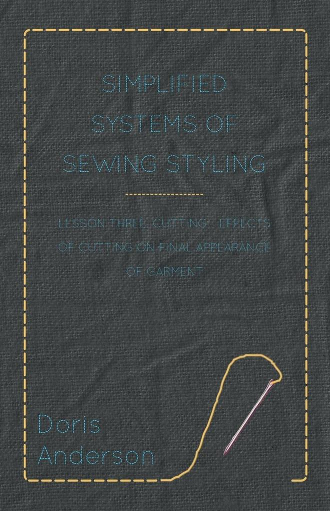 Simplified Systems of Sewing Styling - Lesson T...