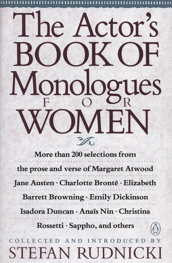 The Actor's Book of Monologues for Women als Taschenbuch
