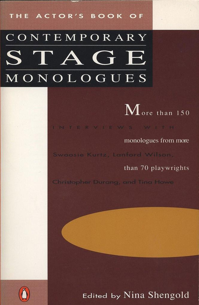 The Actor's Book of Contemporary Stage Monologues: More Than 150 Monologues from More Than 70 Playwrights als Taschenbuch