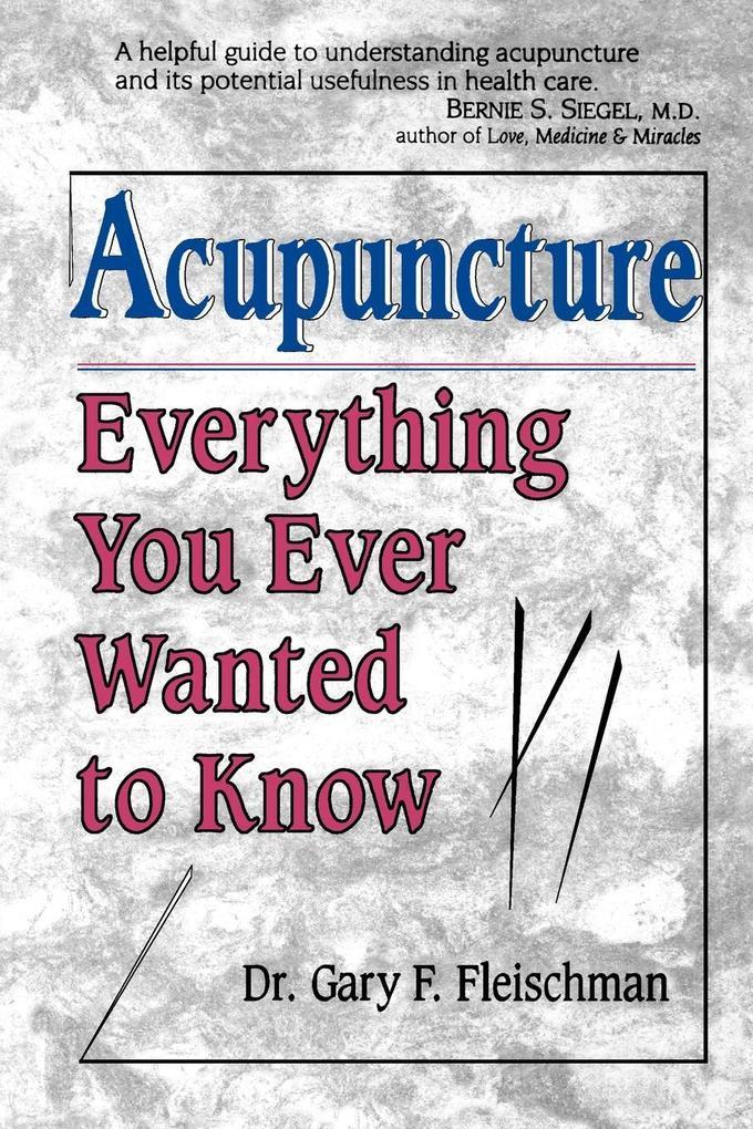 Acupuncture als Taschenbuch