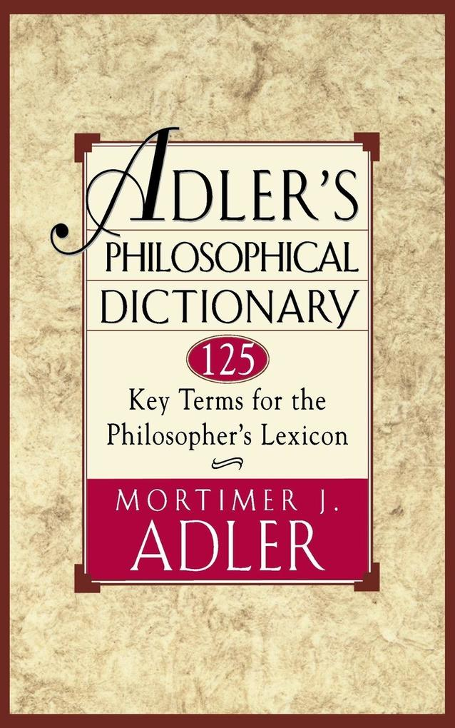 Adler's Philosophical Dictionary als Taschenbuch