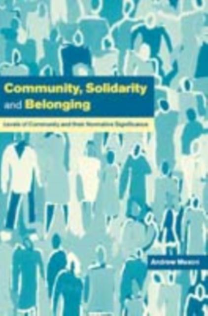 Community, Solidarity and Belonging als eBook D...