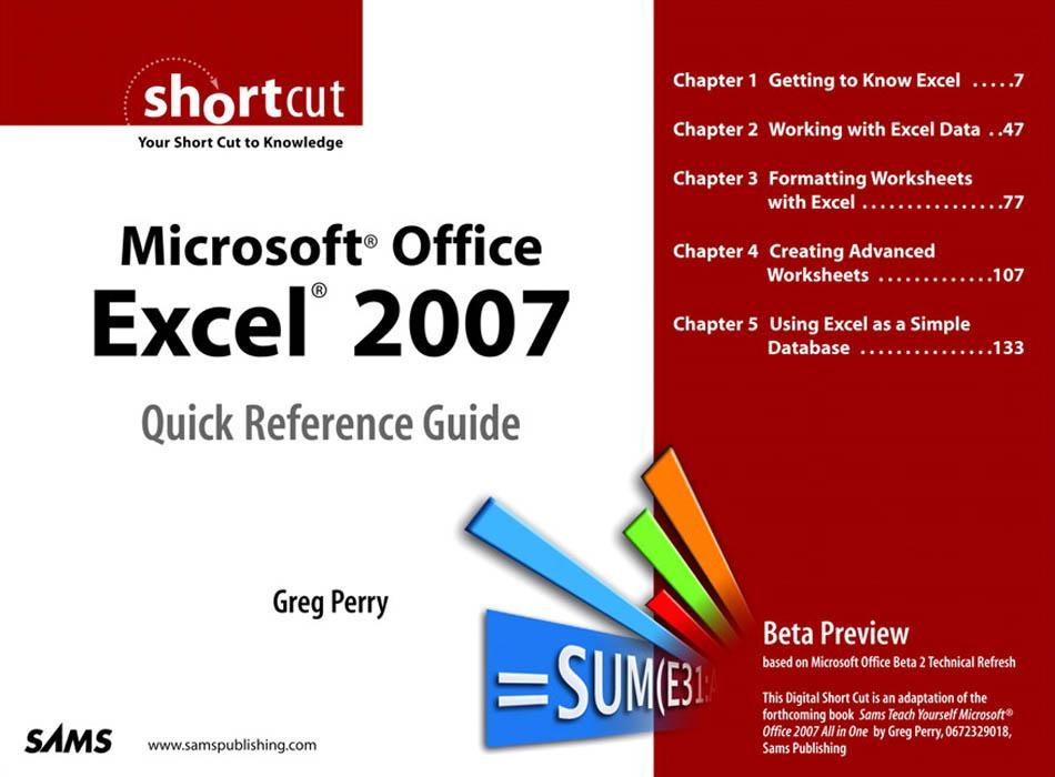 Microsoft Office Excel 2007 Quick Reference Gui...