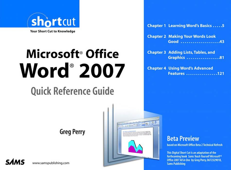 Microsoft Office Word 2007 Quick Reference Guid...