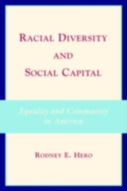 Racial Diversity and Social Capital als eBook D...