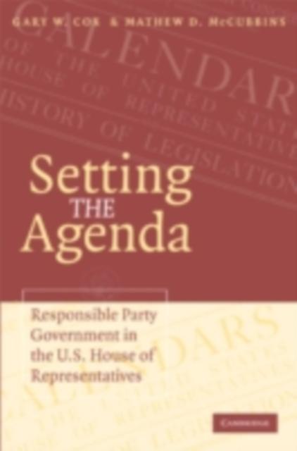 Setting the Agenda als eBook Download von Gary ...