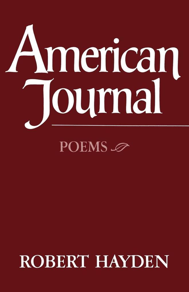 American Journal: Poems als Taschenbuch