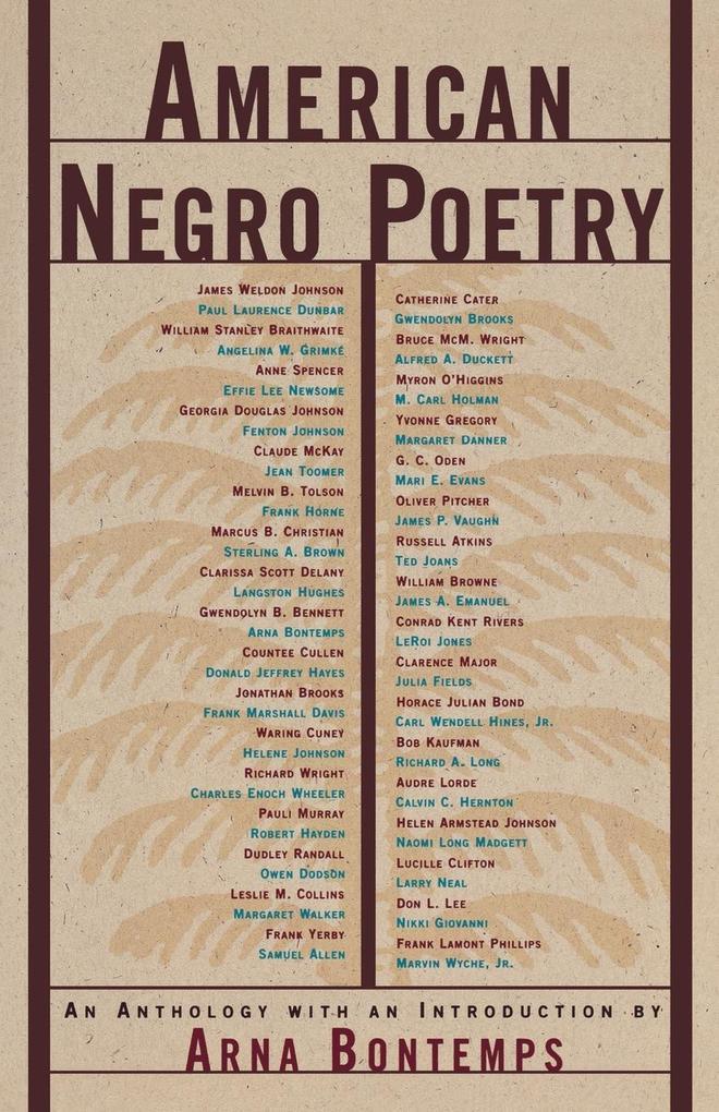 American Negro Poetry als Taschenbuch