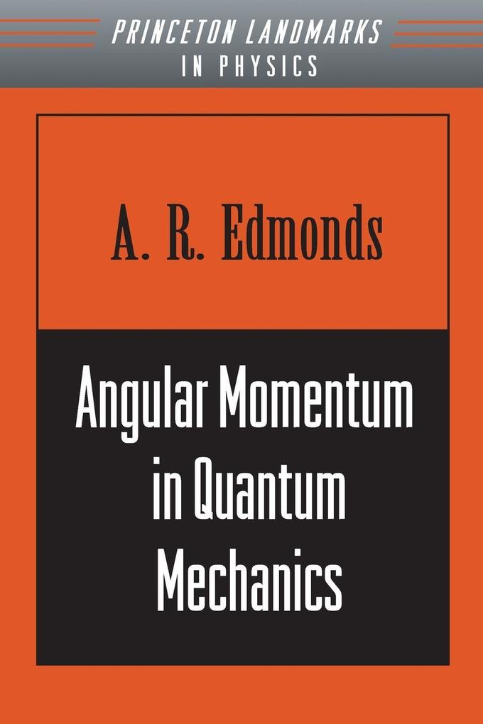 Angular Momentum in Quantum Mechanics als Taschenbuch