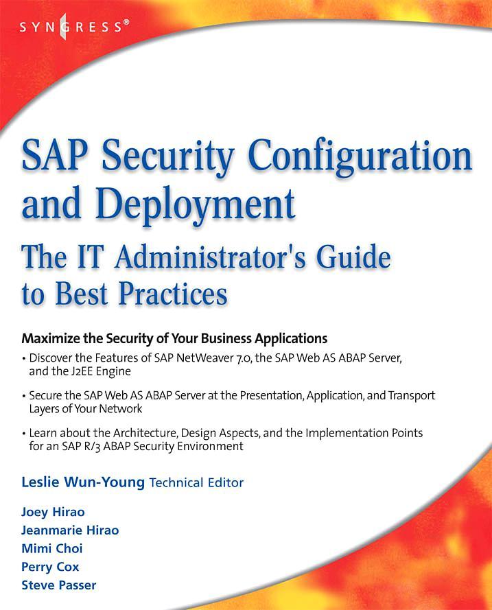 SAP Security Configuration and Deployment als e...