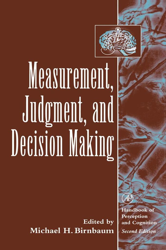 Measurement, Judgment, and Decision Making als ...