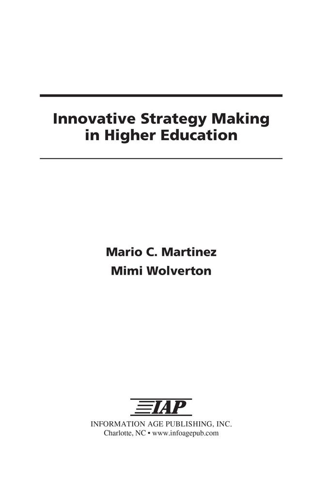 Innovative Strategy Making in Higher Education ...