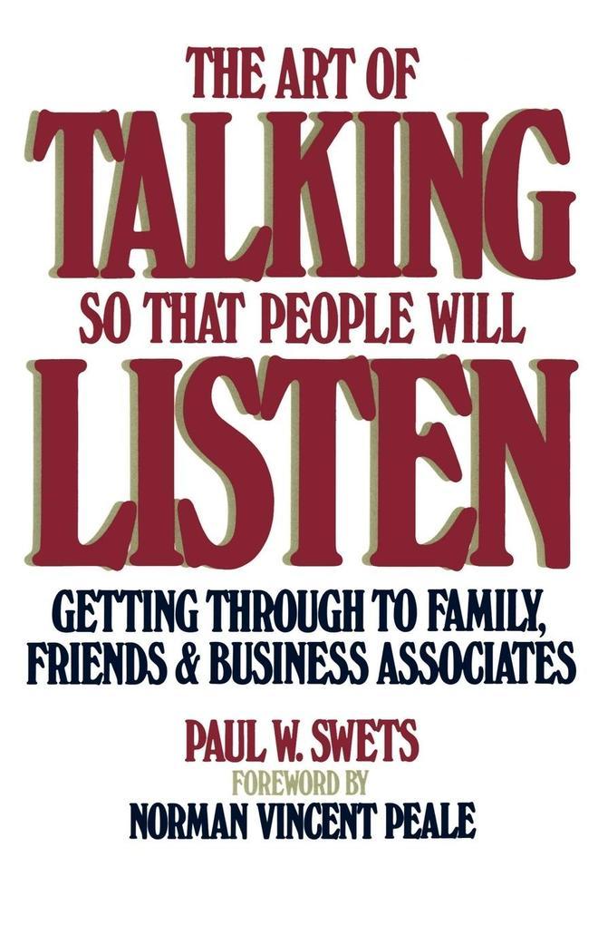 Art of Talking So That People Will Listen als Taschenbuch