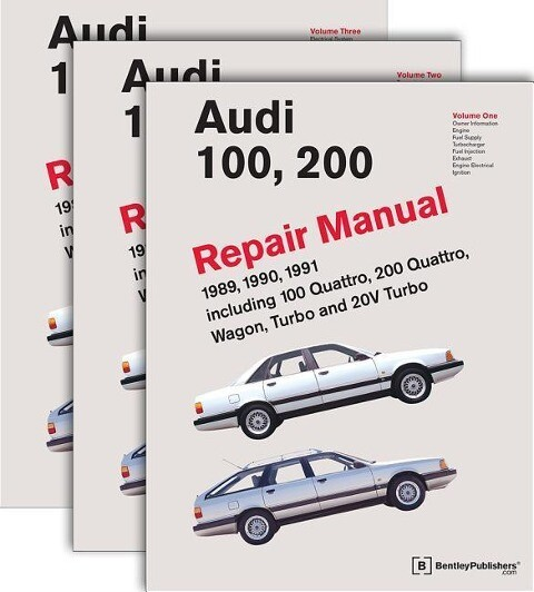 Audi 100, 200 Repair Manual--1989-1991: Including 100 Quattro, 200 Quattro, Wagon, Turbo and 20-Valve Models als Taschenbuch