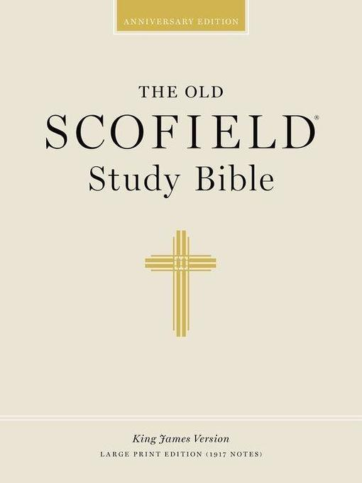 Old Scofield Study Bible: Large Print als Buch