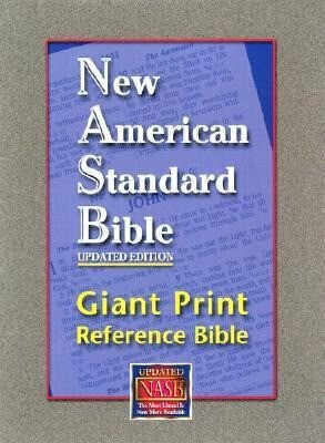 Giant Print Reference Bible-NASB als Buch (Ledereinband)