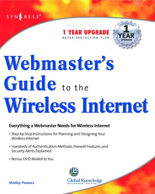 Webmasters Guide To The Wireless Internet als e...