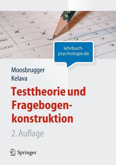 Testtheorie und Fragebogenkonstruktion als Buch