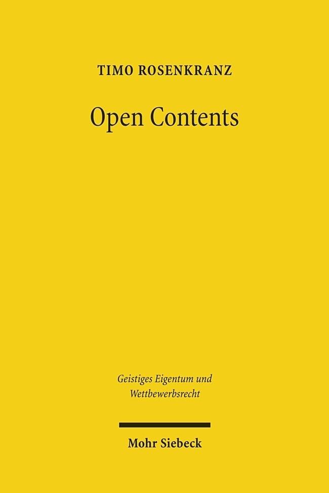 Open Contents als Buch von Timo Rosenkranz