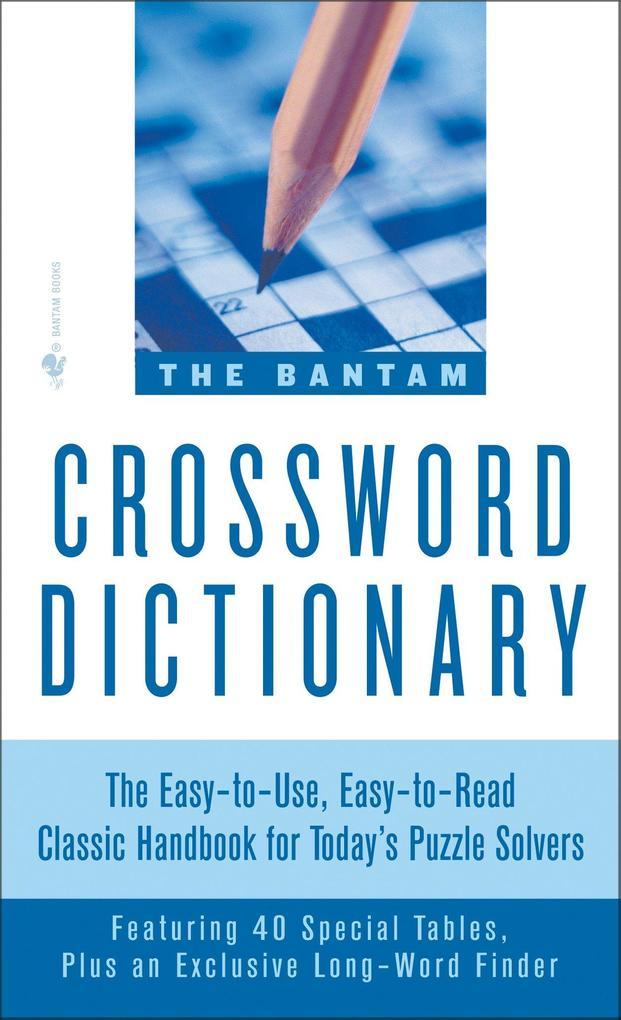 The Bantam Crossword Dictionary als Taschenbuch