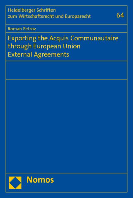 Exporting the Acquis Communautaire through Euro...