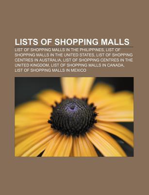 Lists of shopping malls als Taschenbuch von