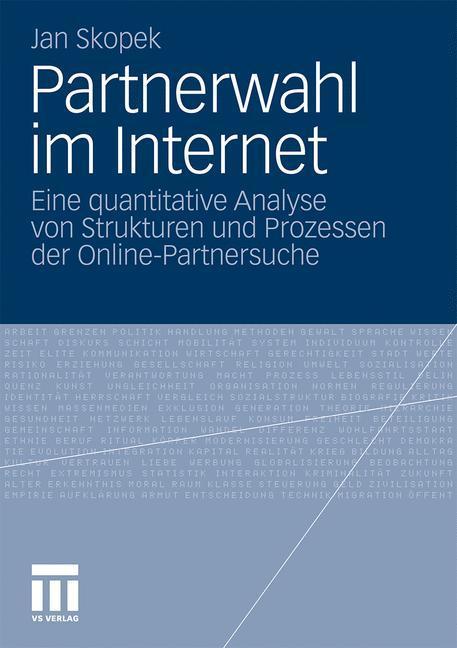 Partnerwahl im Internet als Buch von Jan Skopek