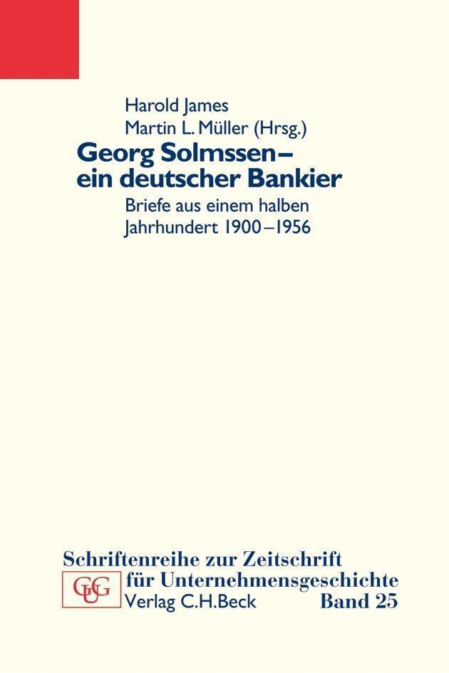 Georg Solmssen - ein deutscher Bankier als Buch