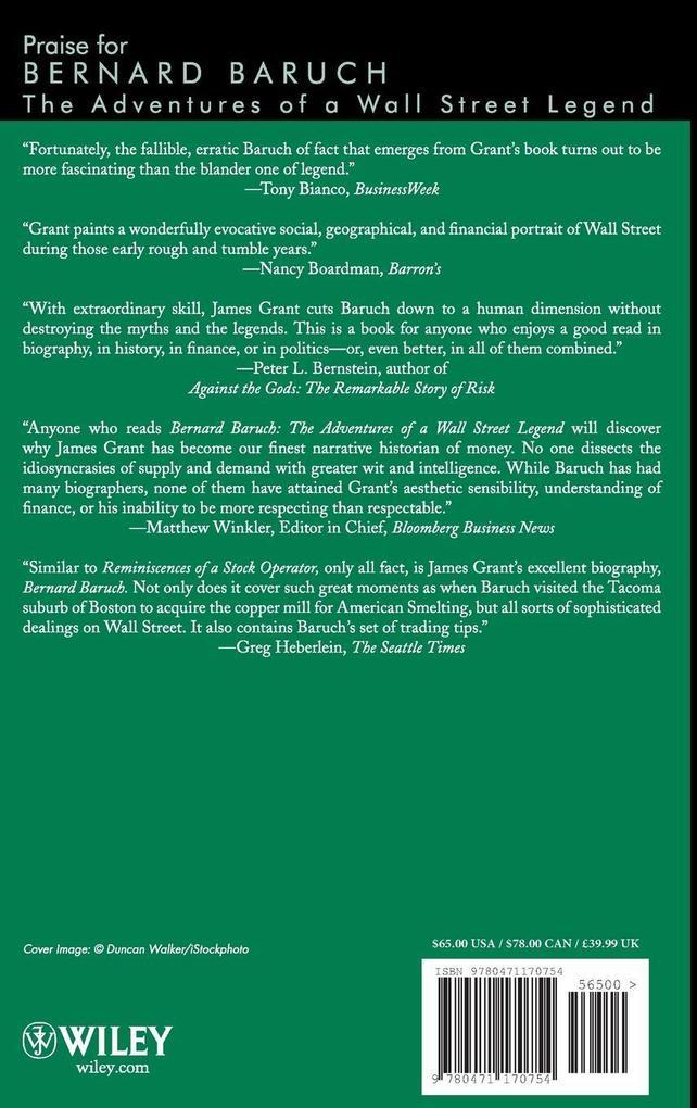 Bernard M. Baruch: The Adventures of a Wall Street Legend als Buch