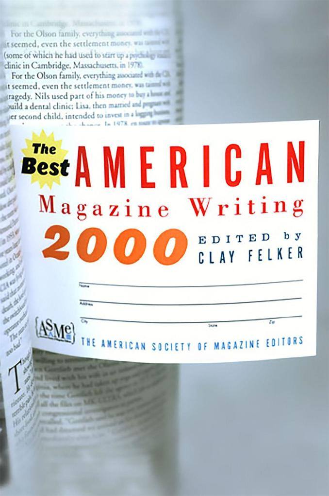 Best American Magazine Writing 2000 als Taschenbuch