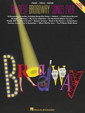 The Best Broadway Songs Ever als Taschenbuch