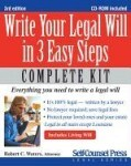 Write Your Legal Will in 3 Easy Steps [With CDROM]