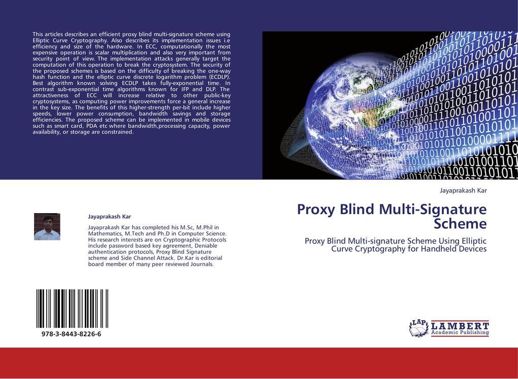 Proxy Blind Multi-Signature Scheme als Buch von...