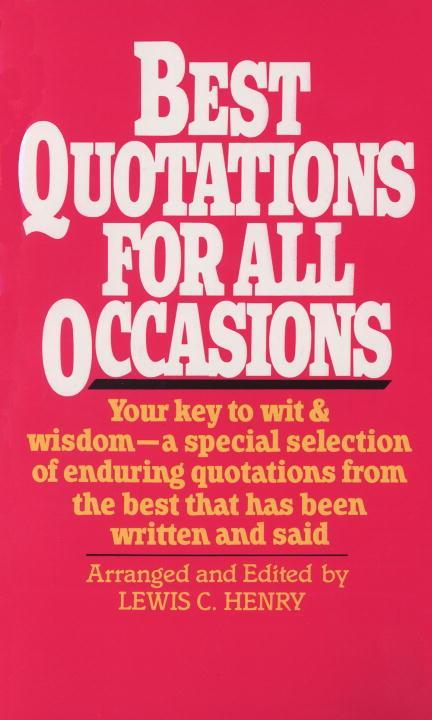 Best Quotations for All Occasions als Taschenbuch