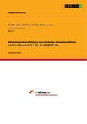 Abkommensberechtigung von deutschen Investmentfonds i.S.d. InvG nach Art. 4 (1), 10 (2) OECD-MA