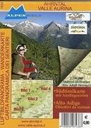 Ahrntal - Valle Aurina Luftbildpanorama-Wanderkarte